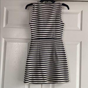 Striped Dress in navy and cream